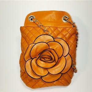 Handbags - Cute Orange Flower Purse